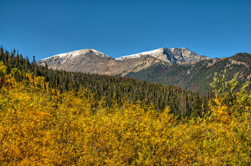 Fall colors in Estes Park, Colorado
