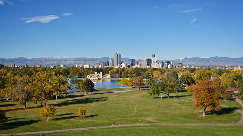 Mid-October colors in Denver's City Park.