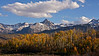 A late afternoon autumn scene along the Dallas Divide; Colorado San Juan Mountains.