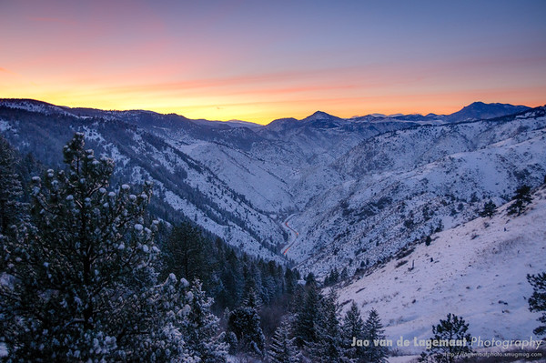 sunset on Clear Creek Canyon December 2008