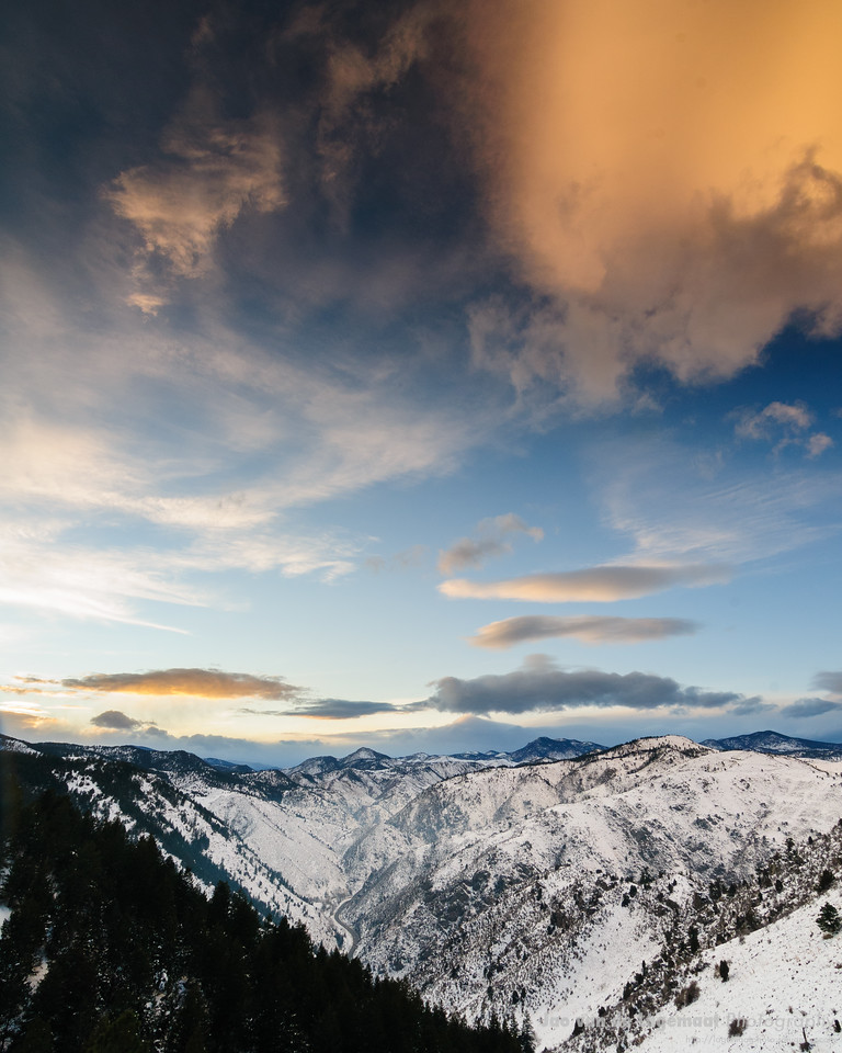 Clear Creek Canyon sunset. Read more here: http://lagemaat.blogspot.com/2012/03/clear-creek-canyon.html