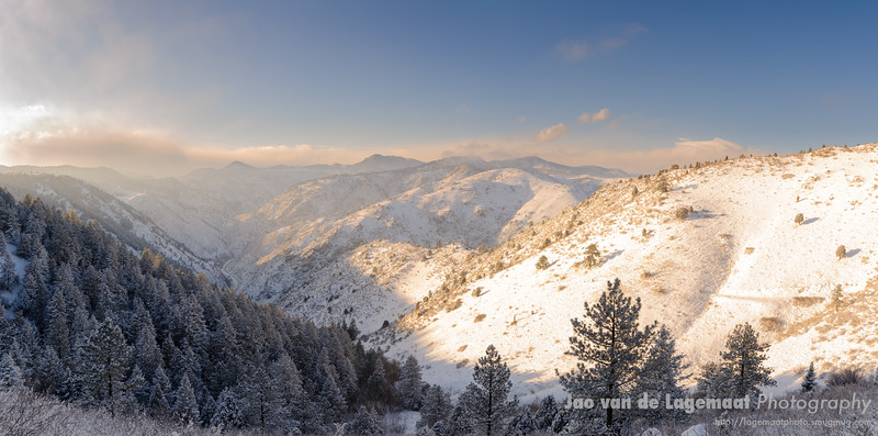 Grazing sunset over Clear Creek Canyon