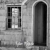 66  G Abandoned Home Door BW