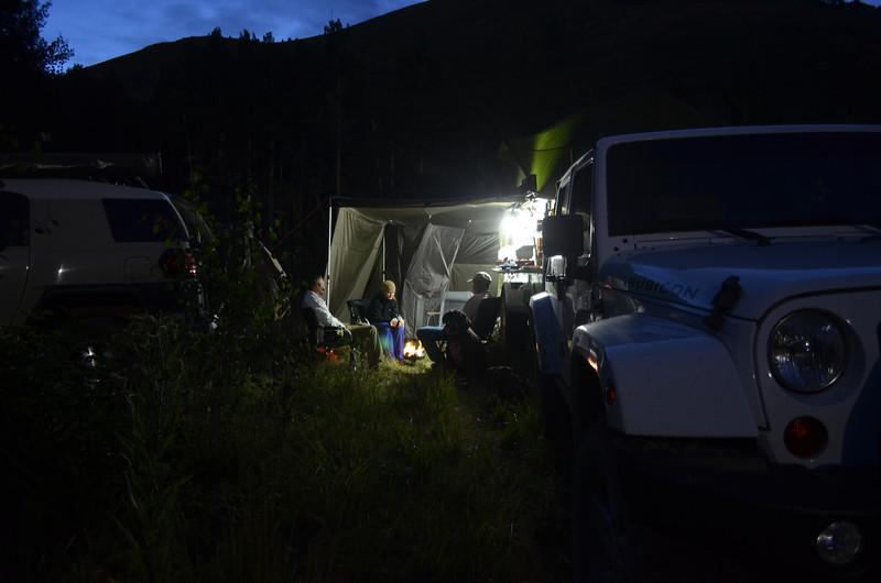Campsite off Last Dollar Road, Telluride, CO