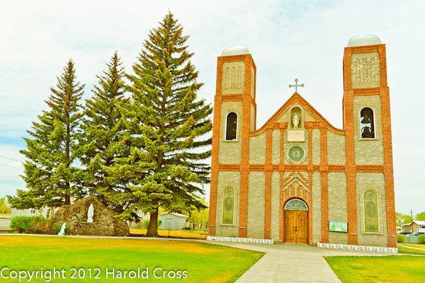 A landscape taken May 1, 2012 near Conejos, CO.  This is the oldest church in Colorado.