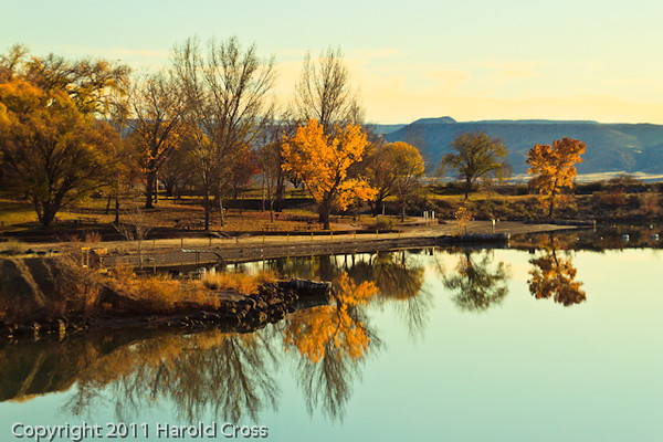 A landscape taken Nov. 17, 2011 at Highline Lake State Park near Fruita, CO.