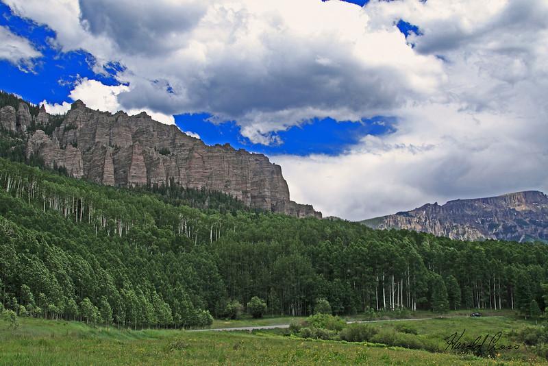 A landscape taken July 2, 2010 near Cimmaron, CO.
