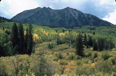 Traveling west through Cottonwood Pass, Colorado