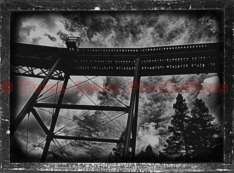 Narrow gauge railroad bridge in Georgetown, Colorado.