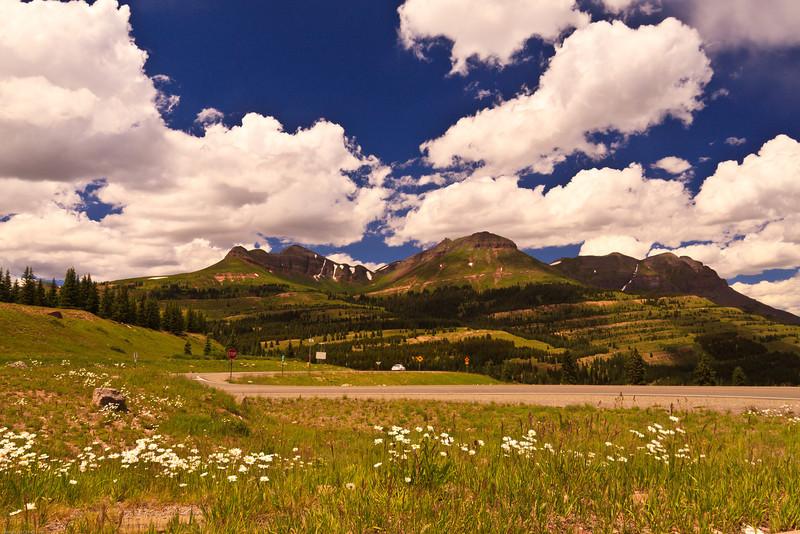 A landscape taken July 21, 2011 near Silverton, CO.