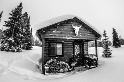 The bunk house in black and white