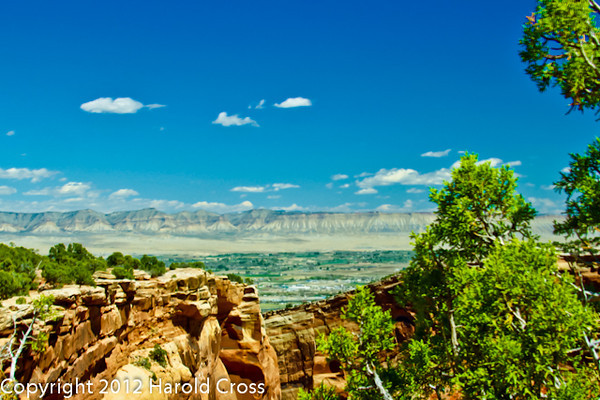 A landscape taken Apr. 21. 2012 on the Colorado National Monument near Fruita, CO.