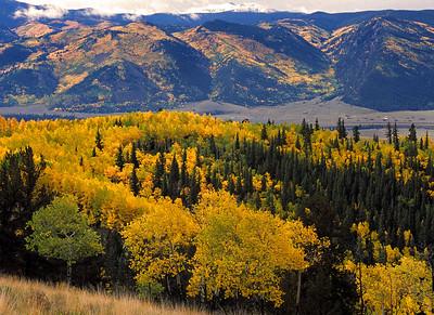 Rio Grande River valley in Mineral County near Creede, Colorado