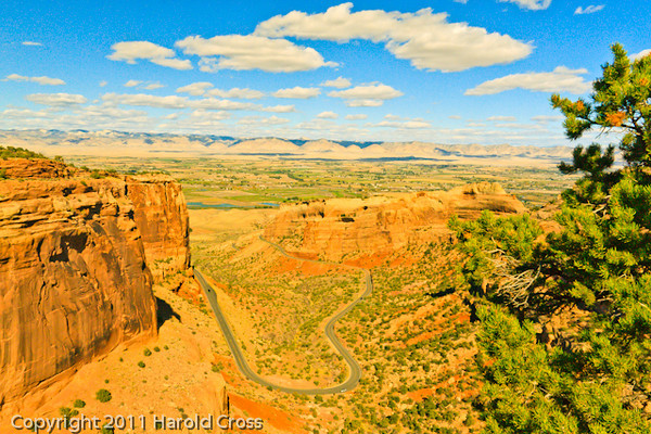 A landscape taken Oct. 17, 2011 at the Colorado National Monument near Fruita, CO.