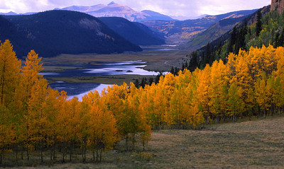The headwaters of the Rio Grande River in Mineral County, Colorado begin here where several creeks flow into two reservoirs.  The water begins a journey south which will take it through Colorado, New Mexico and Texas and into the Gulf of Mexico.
