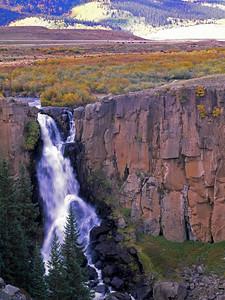 North Clear Creek Falls, Mineral County, Colorado drains into the Rio Grande River