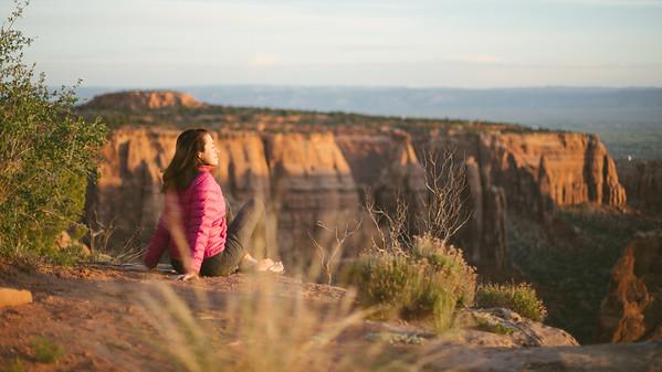 Enjoying a warm western Colorado sunrise