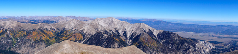 Mount Princeton and the Collegiate Peaks, viewed from the summit Mt. Antero; Colorado Sawatch Range.