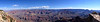 Panoramic view of across the magnificent Grand Canyon from the south rim; Arizona.