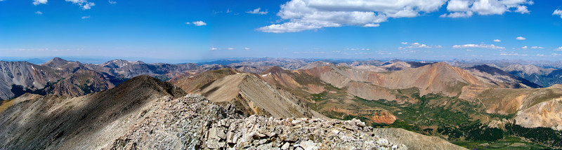 Southern Sawatch range from the summit of Tabeguache Peak, Colorado