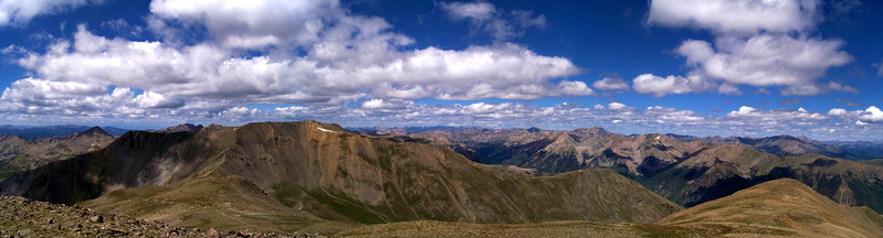 Panoramic view of Mt. Belford from the summit of Mt. Oxford, Colorado Sawatch Range