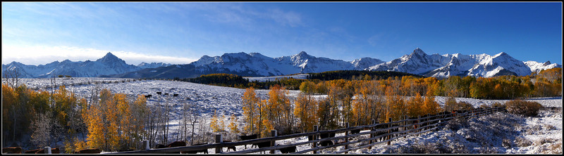 The Sneffels Range along the Dallas Divide on a crisp autumn morning; Colorado San Juans.