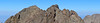 Panoramic view of Crestone Peak, viewed from the summit Crestone Needle; Colorado Sangre de Cristo Range.