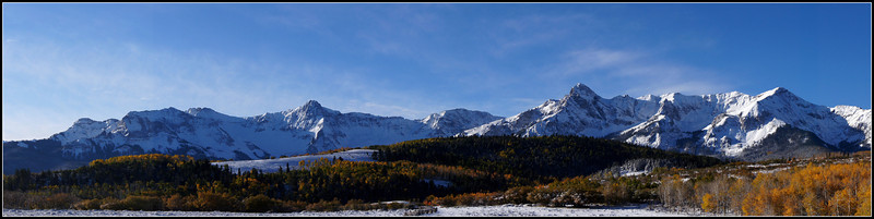 A cold autumn morning at the Dallas Divide, Colorado San Juan Range.