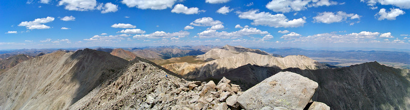 Southern Sawatch Range, Colorado, from the summit of Mt. Shavano