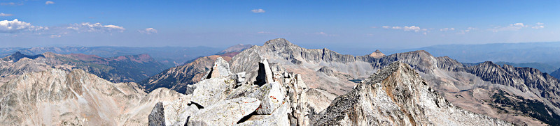 Panoramic view of Capitol Peak from the summit of Snowmass Mountain, Colorado Elk Range
