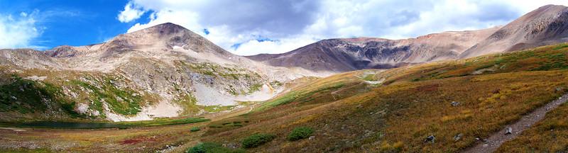 The Kite Lake basin beneath Mounts Democrat, Lincoln and Bross; Colorado Mosquito Range.