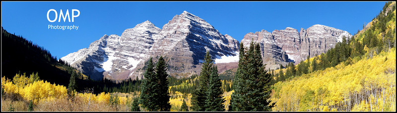 Autumn's first snow on the Maroon Bells, Colorado Elk Range.