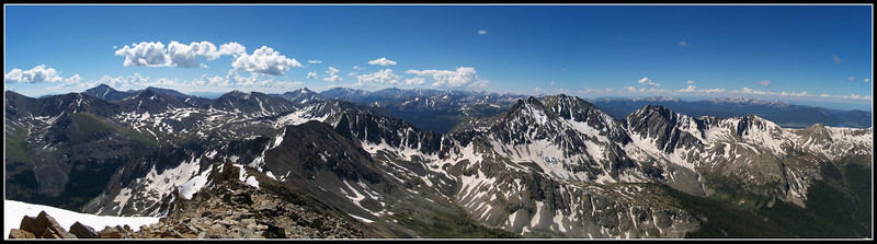 Colorado's Sawatch Range and Apostles from the summit of Huron Peak