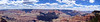 Panoramic view from the south rim of the magnificent Grand Canyon, Arizona.