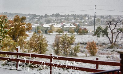 First Snow Storm of the 2017-2018 Winter.