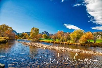 The Big Thompson River in Estes Park