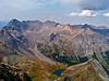 Dallas Peak as seen from the summit of Mt. Sneffels;  Blue Lakes 3000 ft. below.  Colorado San Juan Mountains.