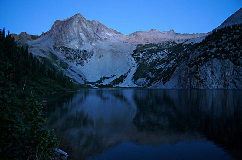 Predawn calm at Snowmass Lake, Colorado Elk Range