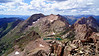 Looking across the west ridge of Windom Peak at Mt. Eolus; Colorado San Juans. Colorado San Juan Range