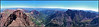 North Maroon, Pyramid Peak and the Maroon Creek valley viewed from the summit of Maroon Peak