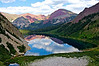 God's Country!  Reflection off the still waters of Snowmass Lake; Colorado Elk Range