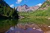 The Maroon Bells summer reflection; Colorado Elk Range