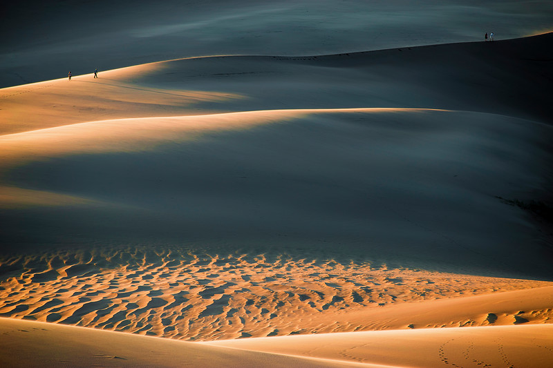 Colorado, Great Sand Dunes National Park, Sunset
