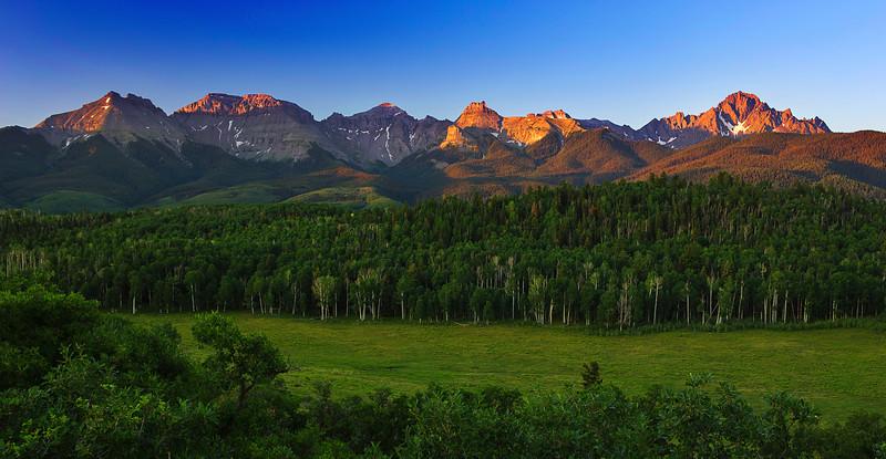 Colorado, Ridgway, Last Dallas Road, Mount Sneffels, Sunrise