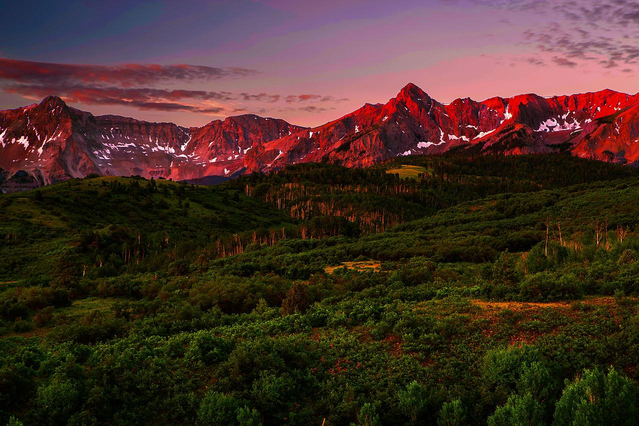 Colorado, Ridgway, Dallas Divide, Sunrise