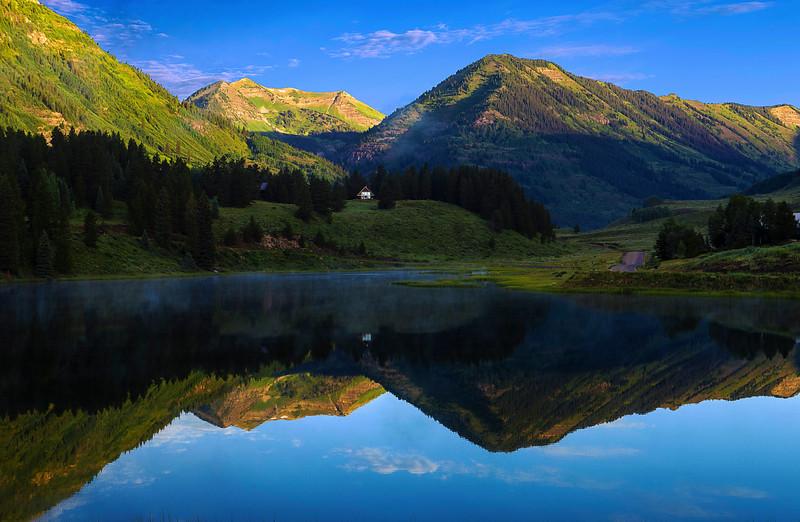 Colorado, Crested Butte, Slate River, Reflection