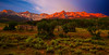 Colorado, Ridgway, West Dallas Creek Road , Mount Sneffels, Sunrise