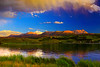 Colorado, Silverthorne, Gore, Range, Blue River, Green Mountain Reservoir, Sunset