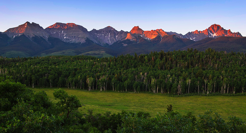 Colorado, Ridgway, Last Dallas Road, Mount Sneffels, Sunrise
