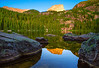 Colorado, Rocky Mountain National Park, Bear Lake, Sunrise